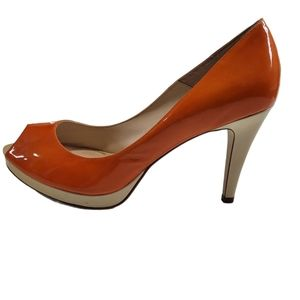 Sacha London Patent Leather Peep Toe Heels 8 1/2